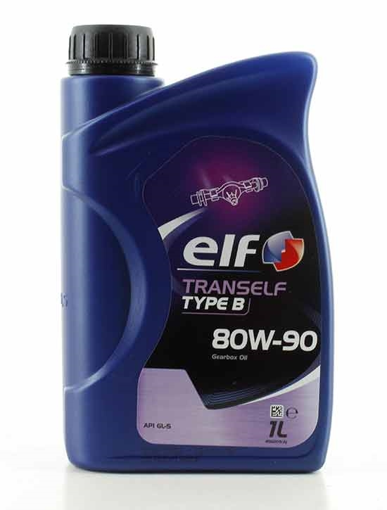 Elf Tranself B 80W-90 gearolie for gearkasser og differentialer - 8611122-0010
