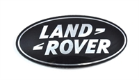 "Land Rover ""Land Rover"" badge for front grillen på Discovery 4 - Sort med sølv"