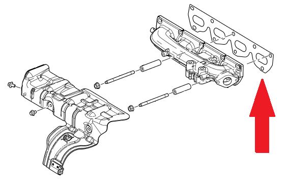 land rover manifoldpakning freelander 2 frem til 2001