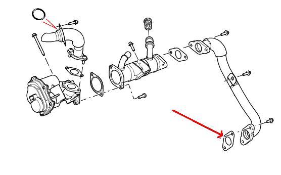 range rover tdv8 egr pakning