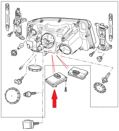 land rover discovery 3 xenon ballaster - ywc500060
