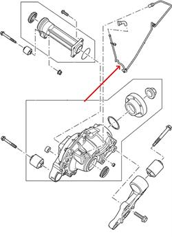 Land Rover differentiale udluftnings slange LR028144