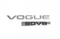 "Land Rover ""VOGUE SDV8"" skilt for Range Rover L405"