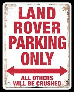 "Land Rover ""Land Rover Parking Only"" skilt - Rød"