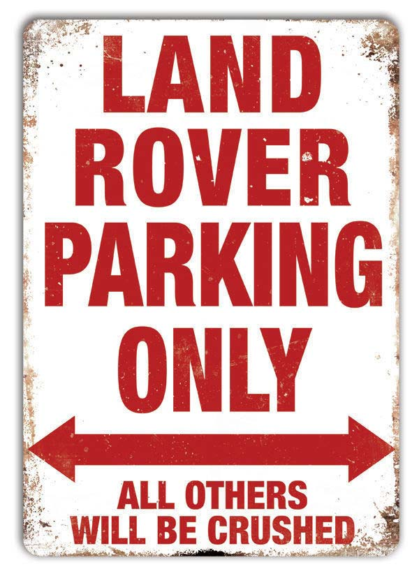 "Land Rover ""Land Rover Parking Only"" skilt - LRO1355RED"