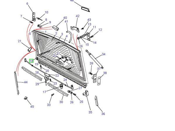 land rover gummiliste for  u00f8verste bagklap p u00e5 range rover