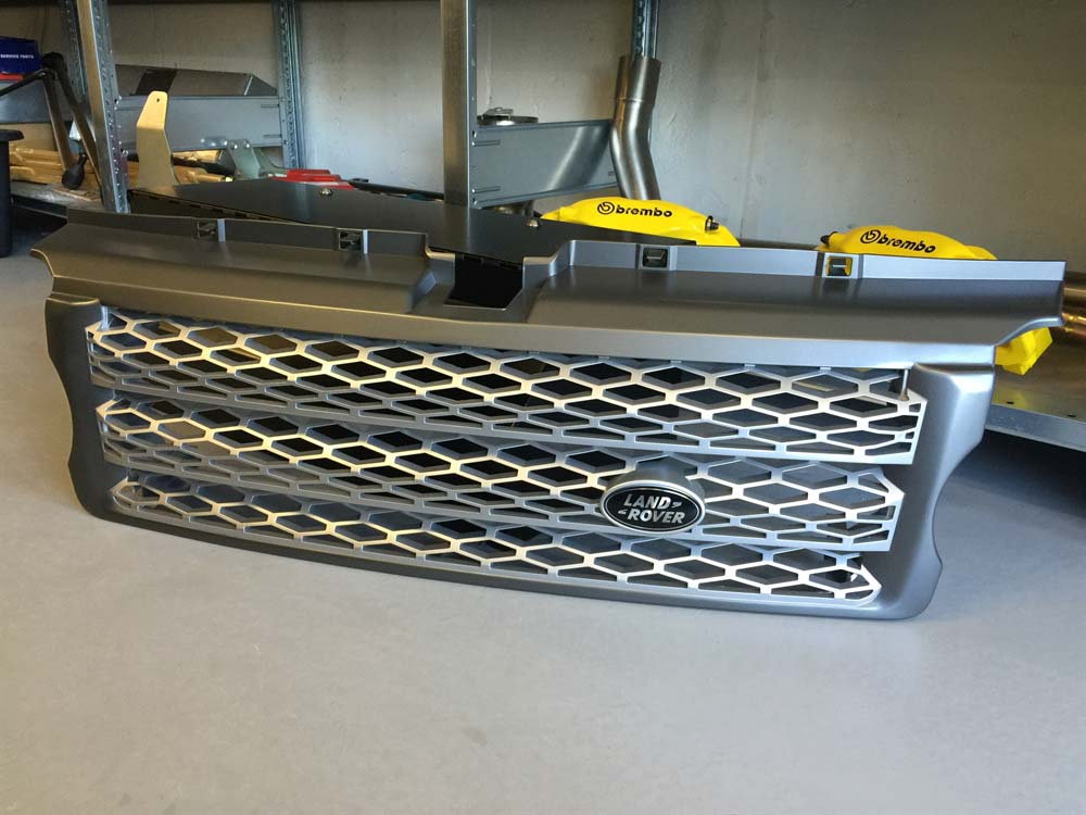 Land Rover kølergrill Supercharged facelift for Range Rover Sport 2005-2009 - DCCRRSSCGRILLBLK